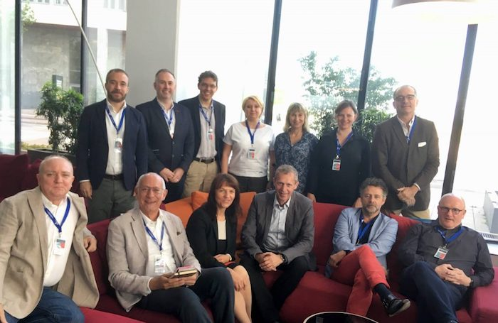 ECM Board members (from left to right and top to bottom): Miguel Sanz (Madrid), Sam Johnston (Dublin), Goran Pavlović (Opatija), Marta Stawińska (Poznan), Barbara Jamison (London), Bettina Reventlow-Mourier (Copenhagen), Nicolas Lefebvre (Paris), Ignasi de Delàs (Barcelona), Pier Paolo Mariotti (Bolzano), Petra Stušek (Ljubljana), Dieter Hardt-Stremayr (Graz), Frans van der Avert (Amsterdam) and Erwin Van de Wiele (Ghent)